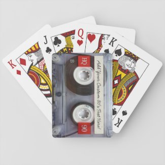 Retro Cassette Tape Custom Playing Card Deck