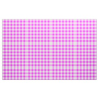 Classic Pink & White Gingham Block Pattern Fabric