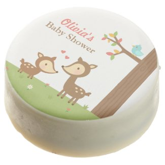 Woodland Forest Deer Baby Shower Party Treats Chocolate Covered Oreo