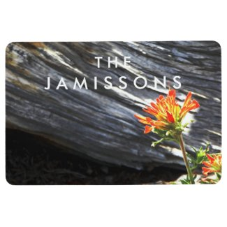 Indian Paintbrush Personalized Floor Mat