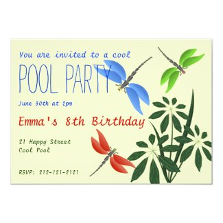 Cool Pool Party Fun Happy Birthday Card