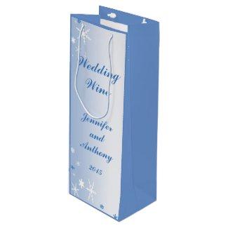 Winter Wedding Wine Gift Bag