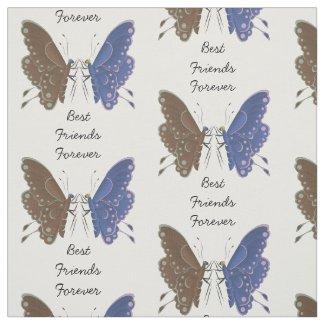 Best friends butterflies personalized fabric