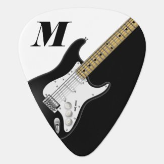 Black Electric Guitar Guitar Pick