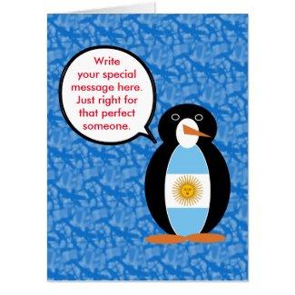 Argentine Holiday Mr. Penguin Card