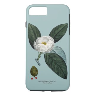 White Magnolia Tough iPhone 7 Plus Case
