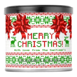 Ugly Christmas Sweater Personalized Hot Chocolate Drink Mix