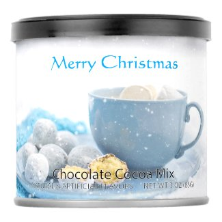 Merry Christmas Blue Snowflakes Hot Cocoa Mix