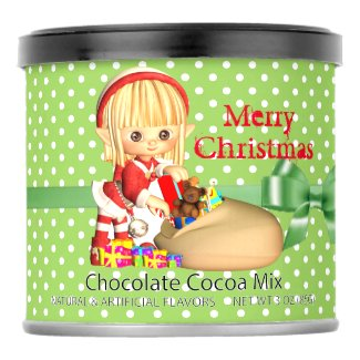 Green and Red Polka Dot Elf Hot Cocoa Hot Chocolate Drink Mix