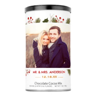 Wedding Holiday Christmas Family Couple Photo Hot Chocolate Drink Mix