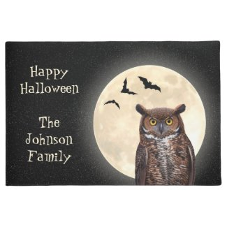 Owl and The Full Moon Doormat
