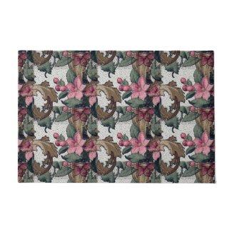 """Blossoms and Leaves 24"""" x 36"""" Door Mat Doormat"""