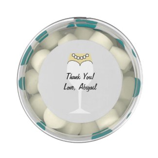 Bridal Shower Round Favor Box Gum