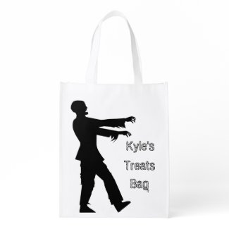 Personalize this Zombie Trick or Treat Bag Grocery Bags