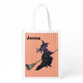"""Personalize this """"Witchy"""" Trick or Treat Bag Market Totes"""