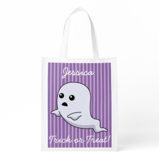 Add your child's name to this cute TRick or TReat Reusable Grocery Bags