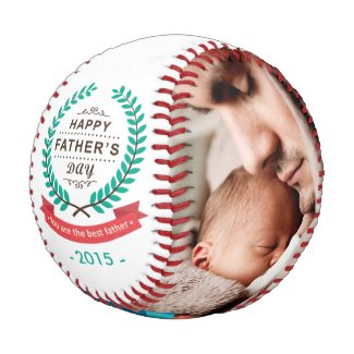 Happy Father's Day Custom Family Photos Baseball