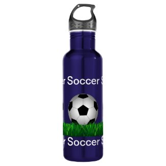 Soccer ball stainless steel water bottle