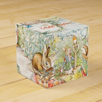 Vintage Rabbit Party Favor Boxes
