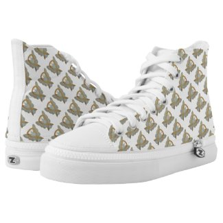 Gold Awareness Ribbon Angel Custom High Tops Printed Shoes