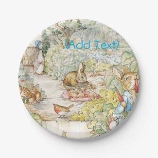 Vintage Fairytale Rabbit Small Cake Plates