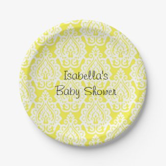 Classic Yellow and White Party Paper Plates