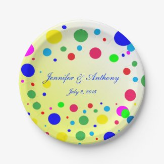 Party Colors Wedding 7 inch Paper Plate