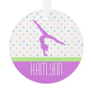 Pastel Dots Gymnastics Ornament