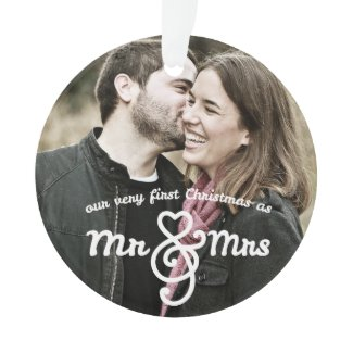 First Christmas as Mr. & Mrs. Photo Ornament