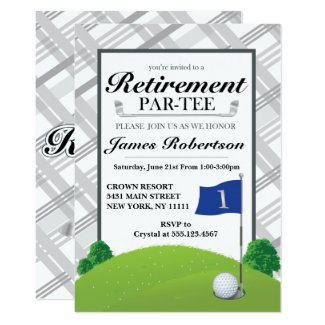 Golf Retirement Party Invitations