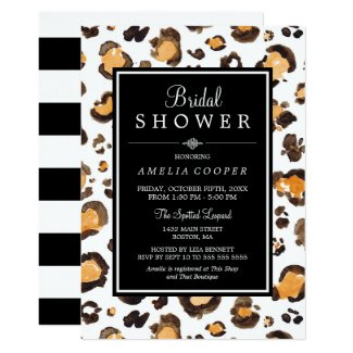 Watercolor Leopard Print | Bridal Shower Invite