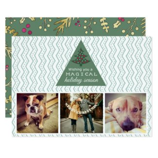 Photo Collage Magical Holiday Season Christmas Card