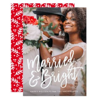 Married & Bright Brushed Holiday Overlay Card