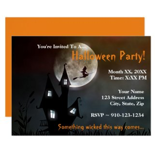 Create Your Own Halloween Party Invitation