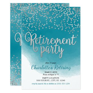 Modern Retirement Party Invitations