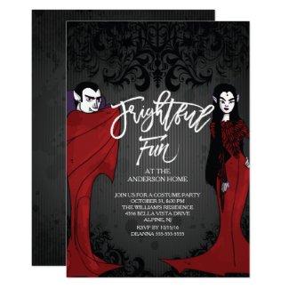 Mr & Mrs Dracula Costume Halloween Party Card