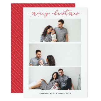 Christmas Sparkles | Merry Christmas Multi-Photo Card