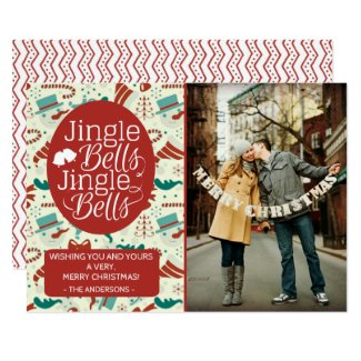 Jingle Bells Holiday Photo Christmas Card
