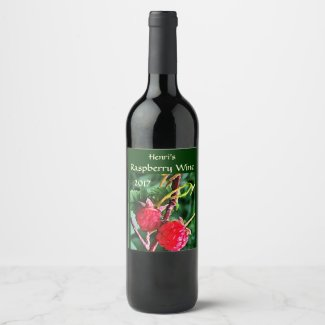Raspberry Fruit Wine Label