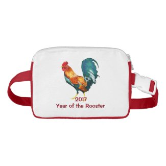 2017 Chinese New Year of Rooster Nylon Fanny Pack