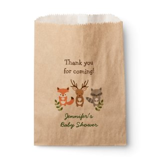 Woodland Forest Animal Party Favor Bags