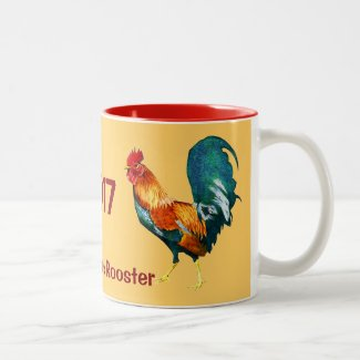 2017 Red Year of the Rooster Chinese New Year Mug