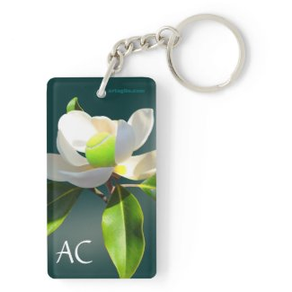 Tennis Magnolia, personalized Double-Sided Rectangular Acrylic Keychain
