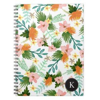 Coastline Floral Spiral Notebook