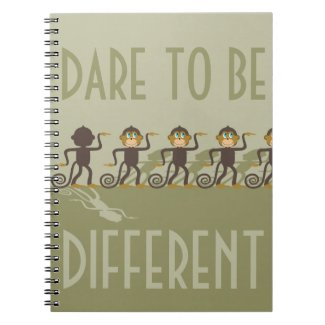Dare to be different, monkeys, safari notebook