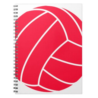 Scarlet Red Volleyball Spiral Notebook