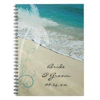 Tropical Beach Wedding Spiral Notebook