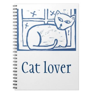 Personalized Cat in a Window Notebook