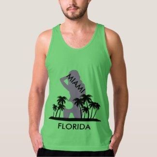 Miami Florida Beach Tropical Scene Tank Top