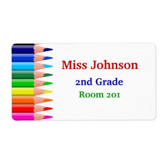 Colorful Teacher's Name Tags Label